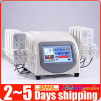 diodo láser lipo máquina al por mayor-5mw Lipo Laser 88 Diodos Lipolysis 14 Almohadillas Body adelgazante Pérdida de Peso Fat Burning Beauty Machine