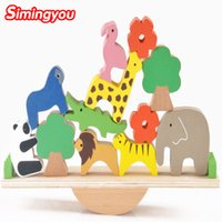 balance beam for kids - Simingyou New Wooden Toys Forest Animals Seesaw Balance Beam Puzzles For Children Kids Jjigsaw Puzzles
