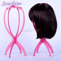 Wholesale Full Lace Wig Stand displaying showing the wigs Stable Durable Wig Stands Holders High Quality Hair Wig Stand Holder