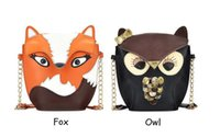 Wholesale Hot Women s PU Fox Owl Print Handbag Purses Party Clutches Women Crossbody Shoulder Bag Messenger Bag ZA0083