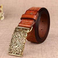 Wholesale Hot Sale Fashion Genuine Leather Belt Luxury Designer Belts for Ladies Women Palace Vintage CowSkin Girdle Cinturones Mujer