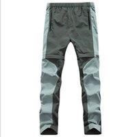 Wholesale Outdoor Quick Dry Pants Removable Montura Pantaloni Donna Convertible Sport Elastic Waterproof Hiking Trousers Men Women