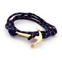 anniversary gifts for men - Anchor bracelets Infinity bracelet Wrap Rope Charm Fish Hook With Paracord For Men And Women Miansai Style fashion jewelry