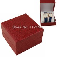 advanced gift boxes - Selling fashion high grade watch box Red pillow watch box Advanced flip gift packaging boxes Couples watch box