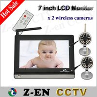 Wholesale New Hot LCD Wireless Baby Monitor Nanny Camera Video Baba Electronic Home Security Receiver with Cameras