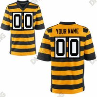 authentic steelers jersey - 2016 Steelers Custom Football Elite Jerseys Home And Away Orange Black White Authentic Stitched Wear Bell High Quality Low Price