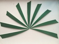 arrow fletching feathers - Outdoor Sporrts Hunting Arrow Feahters Green Color Shield Shape Cut quot Left Wing for Arrow Fletching Nature Turkey Feathers Diy Arrows Parts