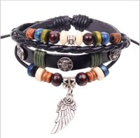 Wholesale New style Bracelet Boutique flower wing style Beaded Strands Women s Leatherwear Bracelets