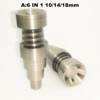 Wholesale Universal In Titanium nail mm Female And Male Domeless Nail hole Titanium Carb Cap For Glass Pipe