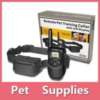 Wholesale Pet Training Supplies Remote Control Electronic Dog Training Collar Pet Stop Barking Device One to One DHL Free