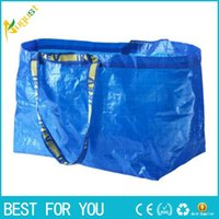 Wholesale IKEA Woven packing Bag Eco friendly Resuable Handbag Advertising Gift environmental protection blue corlor carrying bag