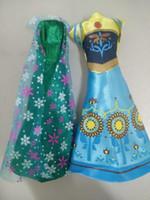 Wholesale Frozen fever Elsa doll dress Anna Doll dress doll toy Clothes For inch Elsa doll and Anna doll A15041602