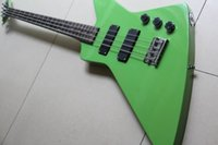 bass guitar models - New arrival G electric bass guitar string bass explorer model in green