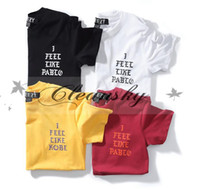 Wholesale Hot Sales Kanye T Shirt Men High Quality Hip Hop Fashion Koby Pablo Real Life of Devanagari Tees Kanye West T Shirt M27