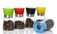 best pepper grinders - Salt Mill Pepper Grinder Glass Set Herb Spice Hand Manual Grinder High Quality Best Selling Household Caster Kitchen Gadgets Dining Mills