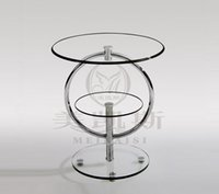 Wholesale Contemporary and contracted phone Toughened glass small tea table