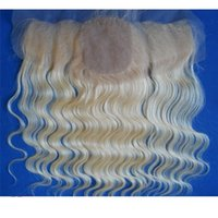 Cheap Brazilian Blonde Human Hair Silk Base Lace Frontal Closure 13x4 Body Wave #613 Bleach Blonde Silk Top Full Lace Frontal Hair Pieces