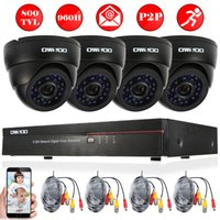 Wholesale OWSOO CH Full H D1 DVR HDMI TVL CCEV Security Camera System Kit P2P Network DVR Infrared Doom IR CUT CCTV Camera PnP
