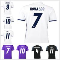 Wholesale 2016 Soccer Jerseys Madrid Football Shirts thai quality Benzema Ronaldo camisetas de futbol Modric Kroos Sergio Ramos Bale Marcelo
