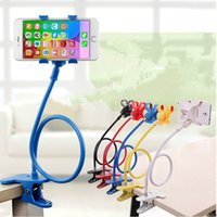 Wholesale 360 Rotating Flexible Long Arm cell phone holder stand lazy bed desktop tablet car selfie mount bracket for iphone for samsung
