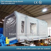 Wholesale m PVC tarpaulin inflatable spray booth inflatable paint booth inflatable car spray booth tent