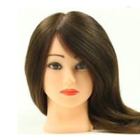 Wholesale Professional Training head Salon Hairdressing Cut Mannequin heads human hair inch Teaching hair extensions tools