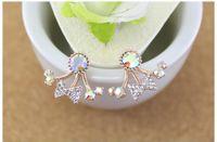 Cheap Diamond Earrings Crystal Earrings Rhinestone Hot Stainless Steel Earrings Pendant Christmas Earrings for Women Jewelry Stores Mix Order Gift