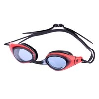 allergy children - Good Quality Unisex Anti fog UV Protection Shatterproof Swimming Goggles with Case Adjustable Allergy Free Sillicone Strap DHL H16998