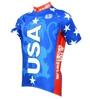 aliens clothes - USA American Flag Cycling Jersey Alien SportsWear Clothing Bike Shirt Men s Red stripes Pro Team Comfortable Comfortable Bike Bicycle