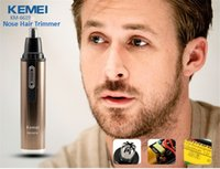 Wholesale Kemei KM Rechargeable Electric Shaving Nose Ear Hair Trimmer Safe Care Shaving Trimmer Nose Hair Clipper For Nose Trimmer