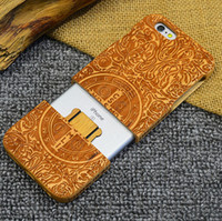 apple wood blanks - Real Wood Blank Phone Case Natural Bamboo Case for iPhone s Mobile Phone Cover Case