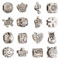 Wholesale Mix styles Big hole loose beads charm For Pandora DIY Jewelry Bracelet fit european bracelet