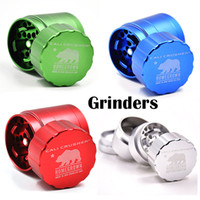 Wholesale Cali Crusher Grinders Piece mm mm Tobacco Grinders High Grade Aluminium Alloy Herb Spice Crusher Colors Gift Box Grinder