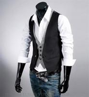 adjustable hot short - 2016 hot sale Best Man vests Stylish Wedding Groom Waistcoat V neck Best Man Groomsmen Business Man Vests Outerwear Coats mix order