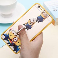 banana stands - Fashion Cartoon Despicable Me Minions Banana Case For iPhone S Case With Ring Stand Holder For iPhone6s Cute Duck Back Cover