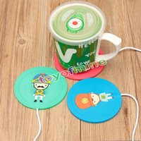 Wholesale 5V USB Beautiful Design V USB Silicone Heat Warmer Heater Milk Tea Coffee Mug Hot Drinks Beverage Cup Color