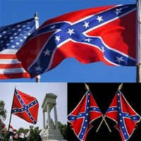 Wholesale DHL Two Sides Printed confederate Flag National Polyester Flag X FT Confederate Rebel civil war rebel flag