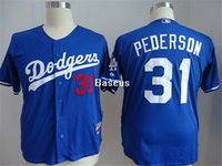 best sports wear - Hot Sale LA Blue Dodgers Joc Pederson Baseball Jerseys Sports Wear Discount Cheap Sports Shirt Best Quality Baseball Uniforms for Men