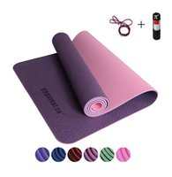 Wholesale Yoga mats fitness Three parts environmental tasteless colorful fitness yoga gymnastics mats with mm
