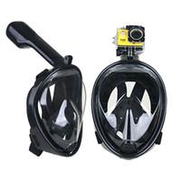 Precio de Camera underwater-Forma subacuática de la escafandra del buceo de la máscara del buceo de la natación de la máscara del snorkel de la cara llena del mergulho del buceo de la natación para la cámara 10pcs DHL de Gopro