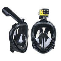 Precio de Camera underwater-Marca Underwater Diving Máscara Snorkel Set Natación Entrenamiento Scuba mergulho máscara de snorkeling de cara completa Anti Fog Para Gopro Cámara 1pc
