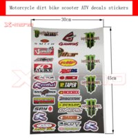 atv decal stickers - Decals Stickers for pit bike dirt bike motorcycle motocross supermoto Cross motorcycle scooter ATV for MONSTER Car