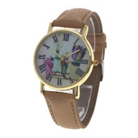 batch logos - 100 units batch of new no logo leather watch fashion flower dial black Roman number of casual quartz watch wrap casual watch