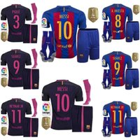 aa shorts - AA Quality Barcelona kit jerseys Socks MESSI ARDA A INIESTA SUAREZ SERGIO PIQUE I RAKITIC NEYMAR JR home and