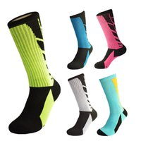 Wholesale 2016 quality thickening spell color men s sports socks breathable elite professional basketball seasons to wear stockings colors