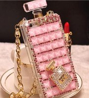 Wholesale S6 cases Iphone s case iphone plus cell phone case Luxury Diamond Bling perfume bottle case for iphone note3 note