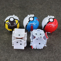 Wholesale 5 Colors Poke Ball Deformation Action Figures Magic Genius Transformation Poke ball toys for children gift