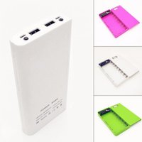 Wholesale 17 cm A and A dual USB outputs Mobile Power bank batterie box battery sessions DIY HD LCD LED lamps V A V A