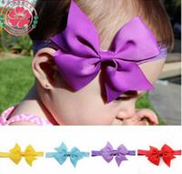 10cm 40pcs 20color archet bande bande de cheveux Cute Baby Ribbon Archets Boutique bandeaux Bandanas filles princesse cheveux Accessoires Enfants Accessoires A8917