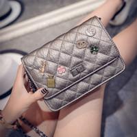 american gold medals - Lingge chain bag handbag new badge messenger bag small bag lady Medal
